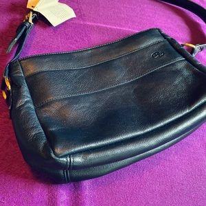 SAS Dawn Pearl Blue Leather Handbag NWT